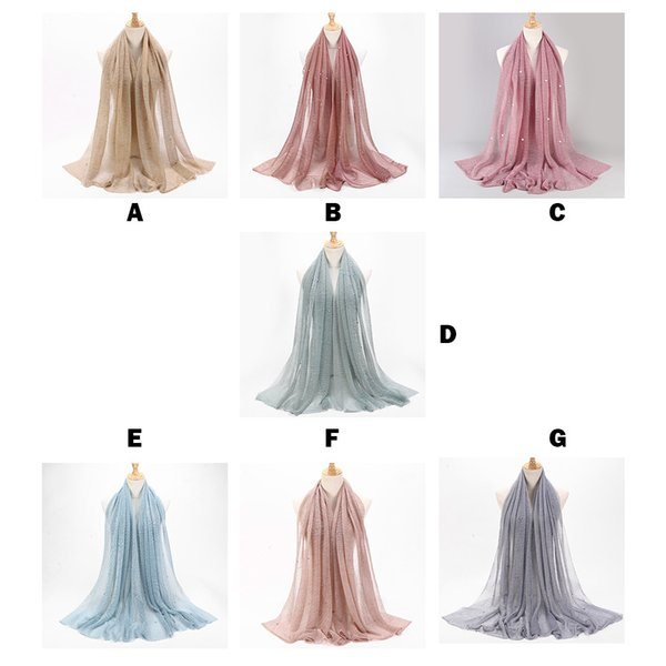 luxury Silk Satin Scarf Thin Shawls Long Foulard Head Scarves Fashion Women Ladies Polyester Scarf Muslim Soft Wrap Long Shawl