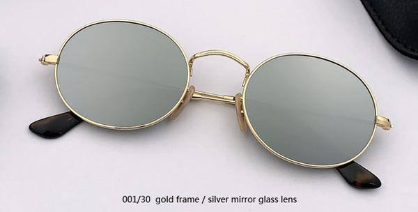 001/30 الذهب / الفضة عدسة مرآة الزجاج