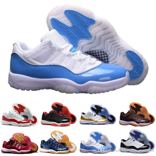 2018 11 Low GS Blue Moon men Basketball Shoes Gym Red Midnight Navy 11s top sale men Sports Sneakers outdoor shoes size US 5.5-13
