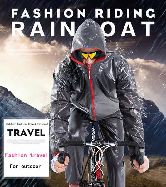 Outdoor Sports Waterproof Windproof Rain Coat Cycling Jackets Bike Bicycle Running Jersey Ultralight Raincoat Detachable Coat + Pants