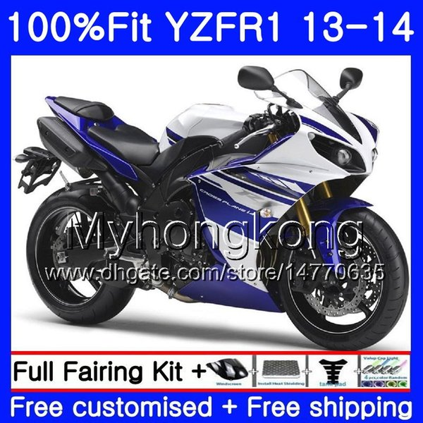Injection Body For YAMAHA YZF 1000 YZF R 1 YZF1000 YZF R1 13 14 242HM.29 blue YZF-1000 YZF-R1 on sale white YZFR1 2013 2014 Full Fairing Kit