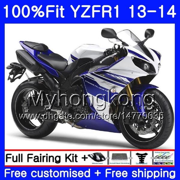 YAMAHA YZF 1000 YZF R 1 YZF1000 YZF R1 13 14 242HM.29 mavi YZF-1000 YZF-R1 Satılık beyaz YZFR1 2013 2014 Tam Fairing Kit