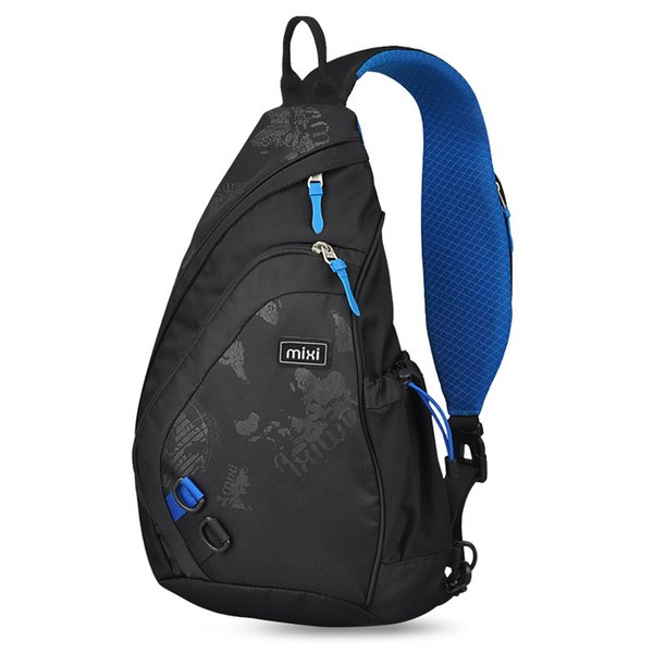 Mixi 2019 Fashion Backpack for Men One Shoulder Chest Bag Male Messenger Boys College School Bag Travel Causal Black 17 19 inch T190916
