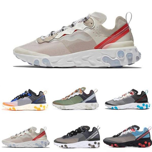 2019 Toplam Turuncu Epic Tepki Eleman Kadınlar Için 87 rahat Ayakkabılar erkekler Koyu Gri Mavi Chill moda lüks erkek kadın tasarımcı sandalet ayakkabı