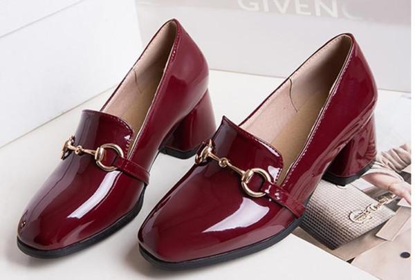 Gratuit envoyer 2017 printemps nouveau style talon brut Chaussures pour femmes @ 03