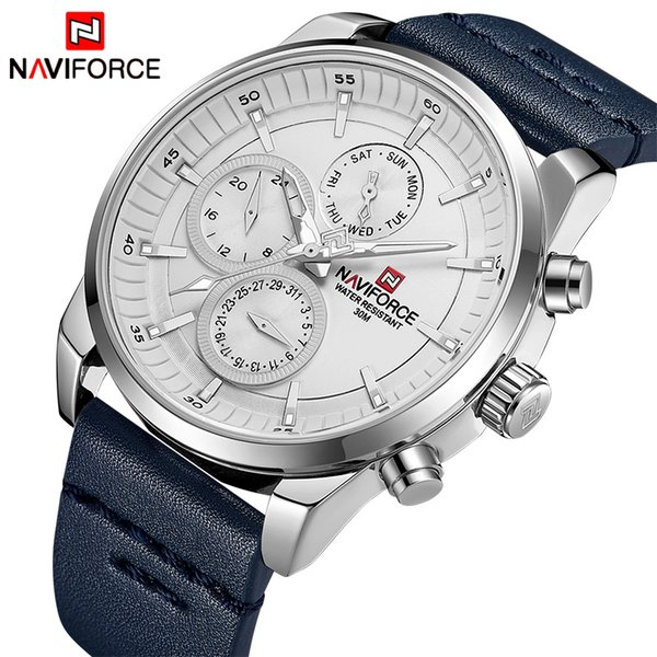 Mens Watches wholesale Top Brand Luxury Waterproof 24 hour Date Quartz Watch Man Fashion Leather Sport Wrist Watch Men