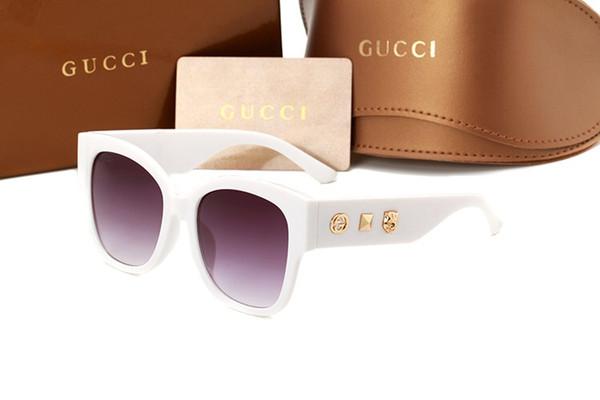 Com caixa LHighquality óculos de sol clássico designer de marca homens e mulheres óculos de sol óculos escuro marrom escuro marrom escuro dentro do caso amarelo