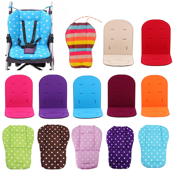 Baby Stroller Seat Cushion Pushchair High Chair Pram Car Colorful Soft Mattresses Carriages Seat Pad Stroller Mat Accessories