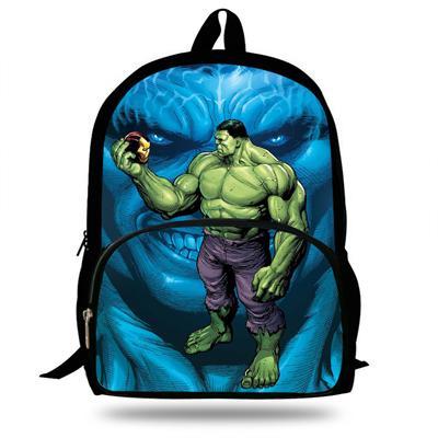 2019 New 16 Inch Mochilas Hulk Backpack For School Boys Bookbag Teenagers Travel Backpack For Girls Gift Children Schoolbags
