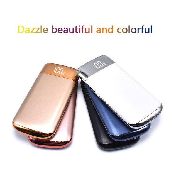 New Power Bank 10000mAh Power Bank 2 USB LCD Powerbank Portable Mobile Phone Charger Battery Charger Cases for Huawei P20 Pro