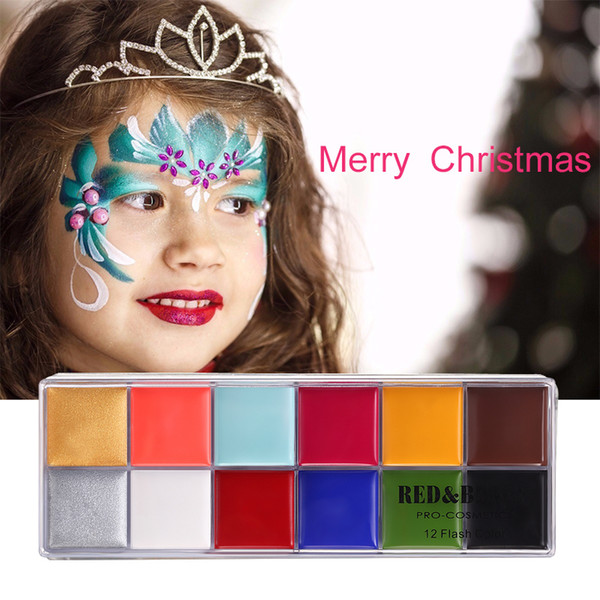 Redblack Flash Tattoo pittura pittura a olio Body Painting Play Clown Halloween Makeup Face Paint 12 Colore Bodyface Painted Makeup