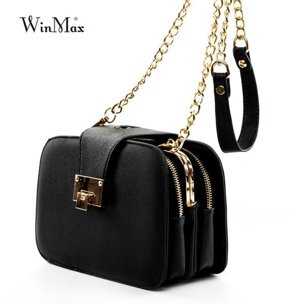 2019 Summer New Fashion Women Shoulder Bag Chain Strap Flap Designer Handbags Clutch Bag Messenger With Metal Buckle #09sh31/9-2 J190614