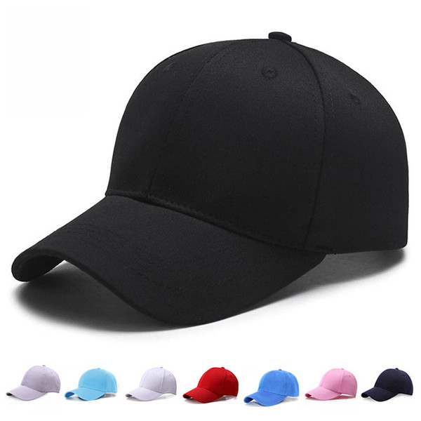 Brand New Men Women Plain Curved Sun Visor Baseball Cap Hat Solid Color Adjustable Caps Snapback Golf ball Hip-Hop Hat Caps