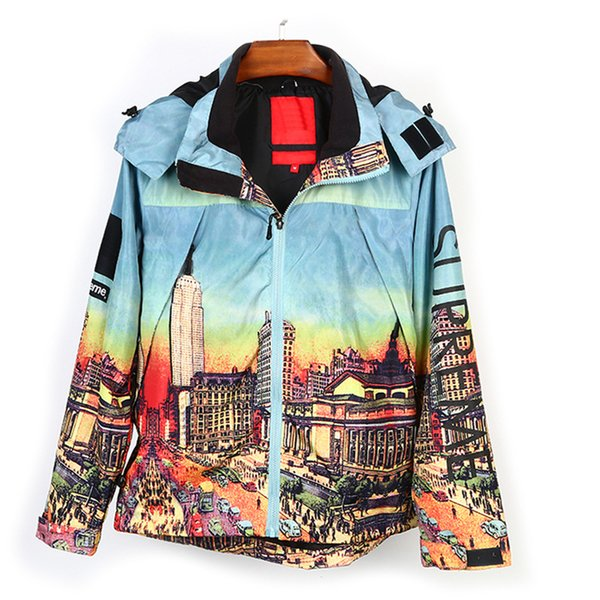 Luxury Designer Clothes Printing Loose Hooded Wind Mens Designer Jackets Zipper Shirt Windbreaker Windproof Coat Large Size M-2XL