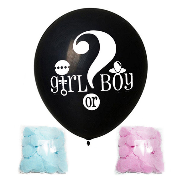 top popular 36 inch black question mark boy or Girl wastepaper balloon gender reveals party Baby Shower Z1118 2021