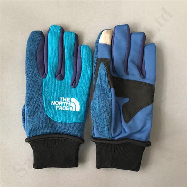 Marken-Designer The North Telefingers Handschuhe Winter Winddichtes Radfahren warme Handschuhe Gesicht Unisex Fleece Woll Touch Screen Handschuhe heiß C92004