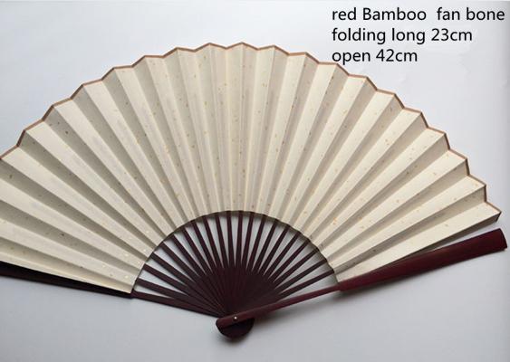 """7"""" red bamboo fan bone"""