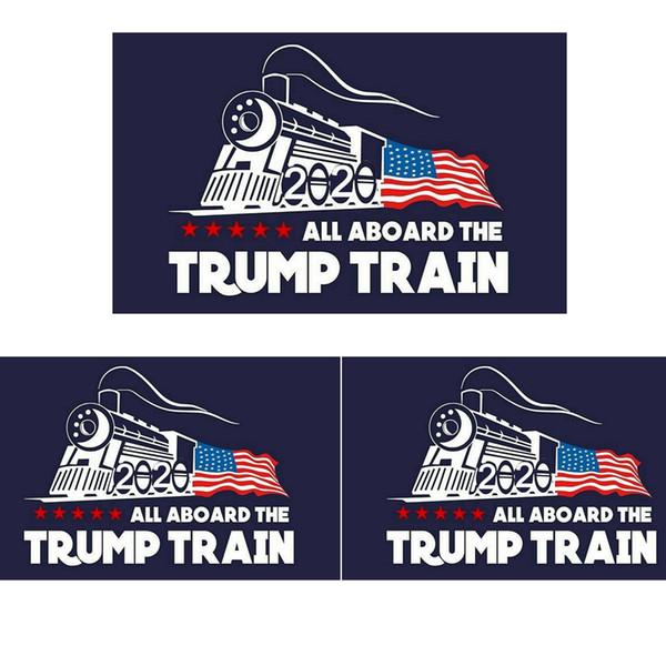 Moda 2020 Trump Car etiqueta Donald Iocomotive Adesivos Trem Janela Etiqueta Para Casa Sala de estar Decoração Adesivos de Parede TTA809