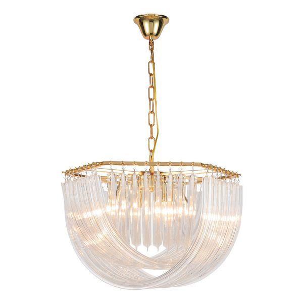 Post Modern Lustre Plate Oro / Cromo Metal Led E14 Luces colgantes Cristal Redondo Luminarias Cadena colgante Lamparas Accesorios 90-265V