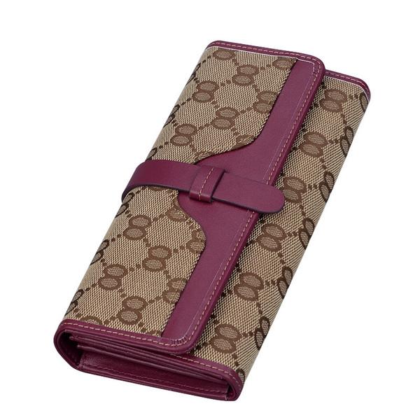 Cartera de diseñador sugao rosa nuevo estilo de alta calidad de lona largas carteras de marca famosa cartera de las mujeres de impresión carta de lujo billetera 3 color