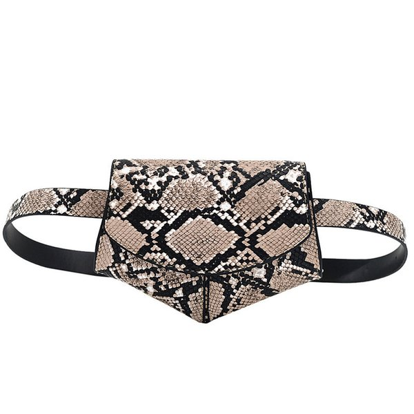 Pretty2019 Woman Pocket Snake Ma'am Fund Belt Disco Dancing Oblique Satchel Chest Package