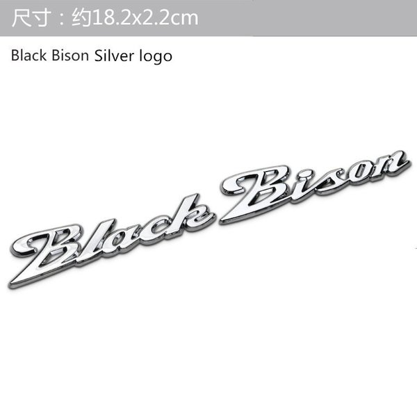 nero bisonte Logo in argento