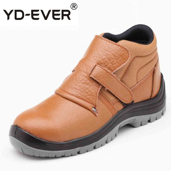 ddb59033210 Mens Casual Big Size Welder Dress Steel Toe Caps Working Safety Welding  Shoes Spring Autumn Genuine Leather Platform Ankle Boots Over Knee Boots  Boots ...