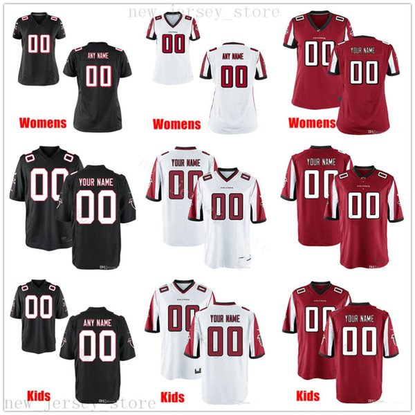 Cu tom atlantafalcon football jer ey men women youth kid black white red jer ey me age number and name on the order