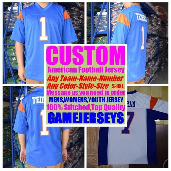 best selling 2019 Personalized american football jerseys college cheap authentic game elite sports jersey stitched mens womens youth kids 4xl 5xl 6xl 7xl