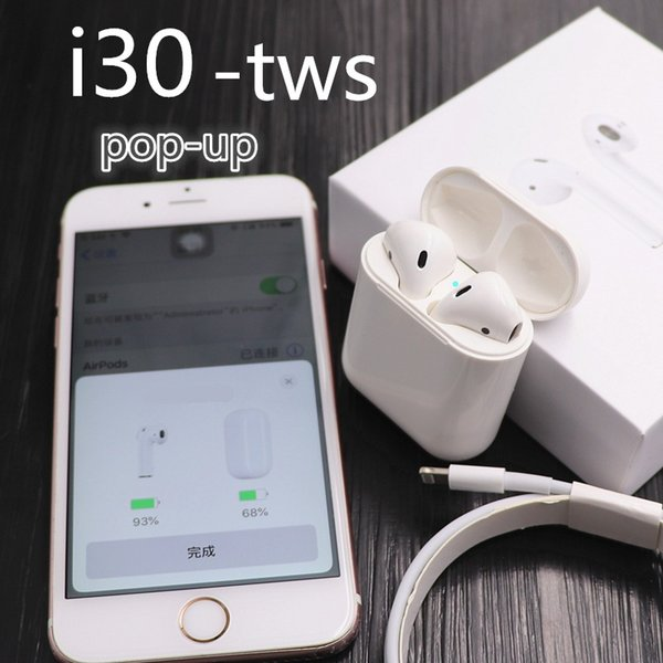 27884a99d11 I30 TWS earphones Pop-up 1:1 size Replica Wireless music 6D Super Bass
