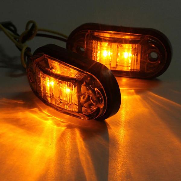 Nueva llegada de la lámpara 2x12 v / v 24 camiones de remolque de marcador lateral, luz LED sumergible coche Fuente de luz de freno lámparas de señalización f23 dropshipping