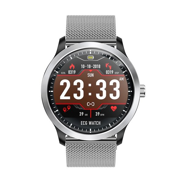 N58 ECG PPG reloj inteligente con pantalla electrocardiográfica ecg holter monitor de ritmo cardíaco reloj inteligente de presión arterial
