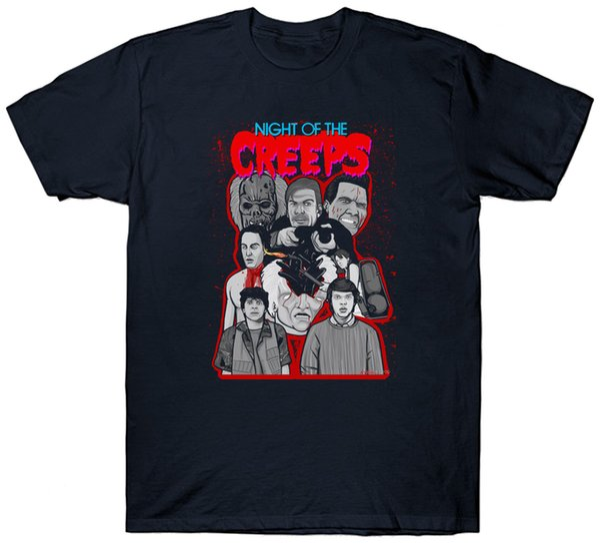 Noite dos Creeps Camiseta Top Cult Filme Filme 1980 S Fan Horror Sci Fi