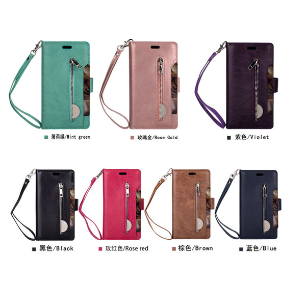 Phone Etui Hoesje Coque Cover Case for Samsung GALAXY S7 S8 S9 Plus Edge Note 8 S8Plus S9Plus With Luxury PU Leather Flip Wallet
