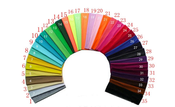 Good quality 23 Candy colors Cotton Sports Headband Yoga Run Elastic Cotton rope Absorb sweat head band