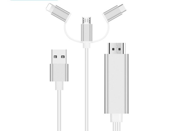 three-in-one plug and play HDMI Cable for Apple Type-c Android mobile phone same screen line