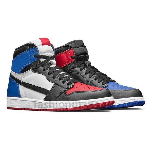 Acheter Air Jordan 1 Nouveau 1 High OG Avec Boîte 1 Blanc Noir Rouge Hommes Chaussures De Basket Ball Baskets De Sport Baskets De Course En Plein Air