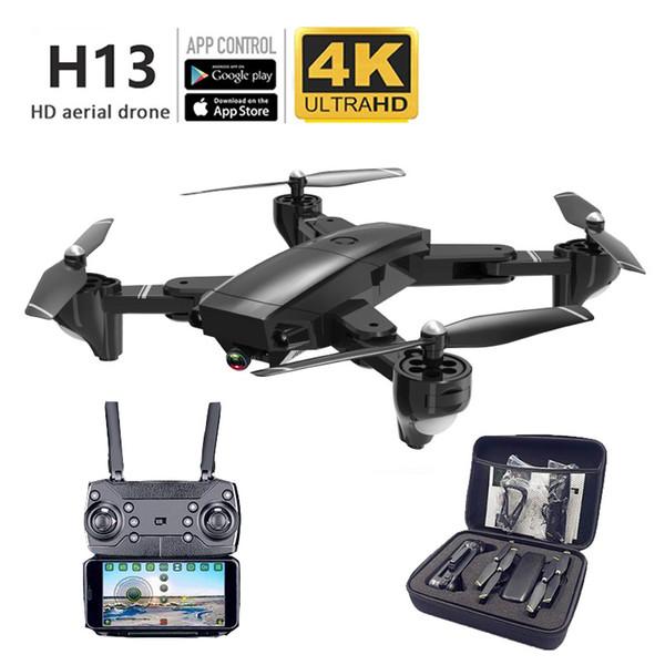 접는 4K HD 공중 무인 항공기 긴 지구력 항공기 공중 원격 제어 카메라 HD 4K 카메라 1080p의 셀카 전문을 네 축