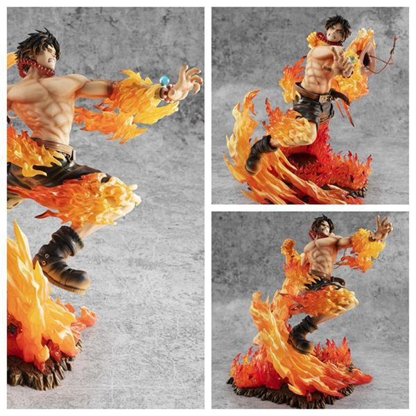 Catoyfirm 25cm Anime One Piece Ace feu Action Fist PVC Figure 15e anniversaire Max Collection Figurine Toy