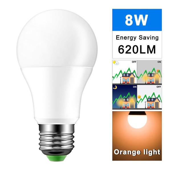 2019 Led Night Light Dusk To Dawn Bulb 8w E27 Smart Light Sensor Bulb Ac85 265v Automatic On Off Indoor Outdoor Lighting Lamp From Jinyucao 52 42