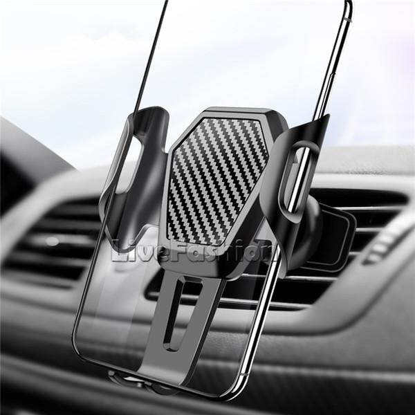 Автомобильный держатель телефона Антистатический воздухоотводчик Стойки памяти для мобильного телефона в автомобиле Сотовый телефон Кронштейн GPS Универсальная розетка