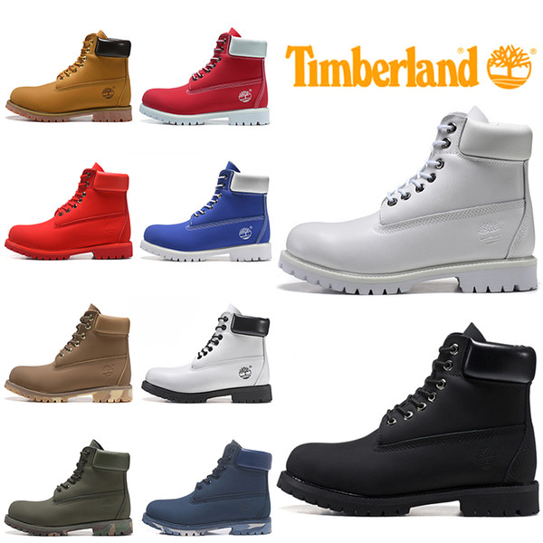 2020 Timberland Boots For Men Women Designer Winter Boot Military Blue Triple Black White Fashion Mens Trainer Hiking Outdoor Shoes Sneaker From