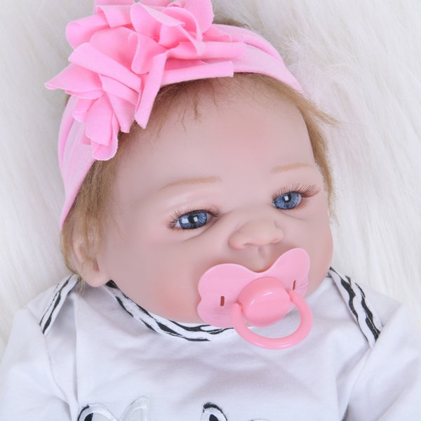 55CM Soft Silicone Reborn Baby Dolls Vinyl Toys Big Dolls For Girls 3-7 Years Old Baby Dolls Limited Collection House Play