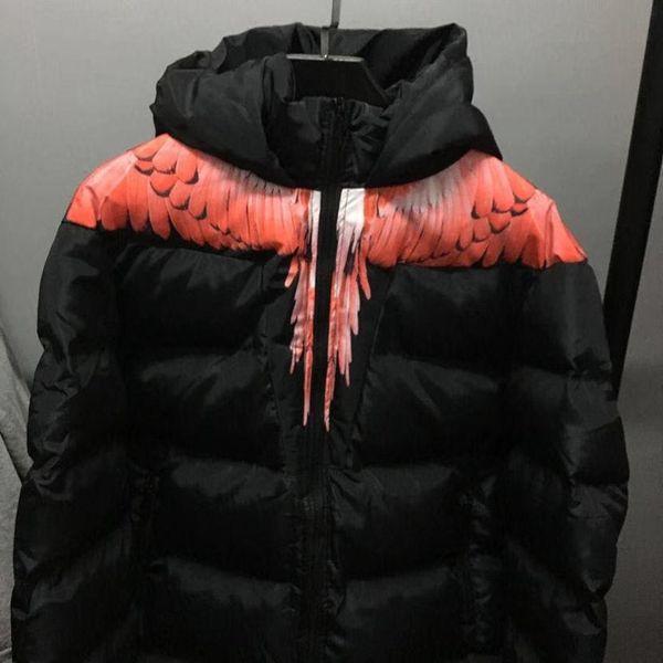 1: 1 Marcelo Burlon chaqueta de los hombres de las mujeres de alta calidad de Italia del condado de Milan Fashion Mb Escudo de Hip Hop Ala Marcelo Burlon Chaqueta