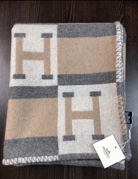 Luxury ignage h cla ic color plaid pattern ca hmere wool blanket hawl 145 170cm 5 color option chri tma family warm gift 2020