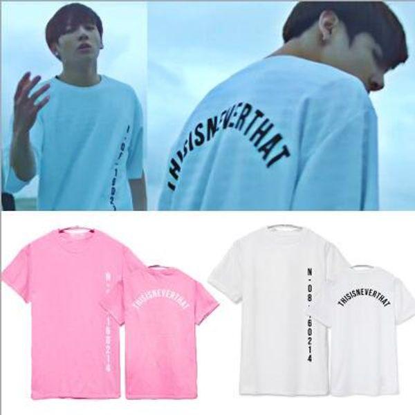 BTS Save Me с коротким рукавом футболка мода письмо печатных лето тройники 5 цветов Crewneck футболка для мужчин женщин KPOP мода 2XS-4XL