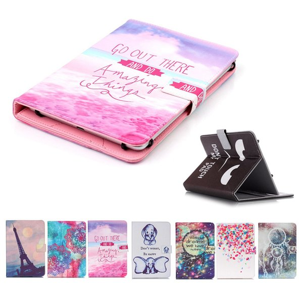 Cartoon Printed Universal 7 inch Tablet Case for HP Slate7 VoiceTab Ultra Cases kickstand Flip Cover Case