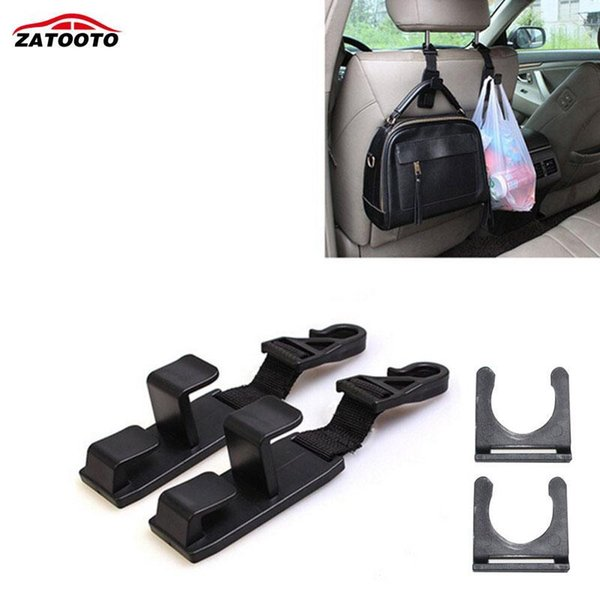 top popular Car Seat Back Hook Drink Hook Backseat Cover Pouch Organizer Car Headrest Hanger Hooks Accessories 2019