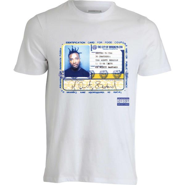 ODB Album Cover Ol Dirty Bastard Ticket For Food Stamps maglietta da uomo top bianco Divertente spedizione gratuita Unisex Maglietta Casual top