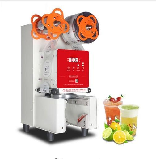 Latte professionale intelligente automatico Coppa Sigillatrice commerciale o di tè di plastica / carta Sealer macchina imballatrice LLFA